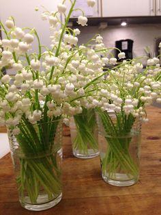 Kutte liljekonvaller til brudebukett
