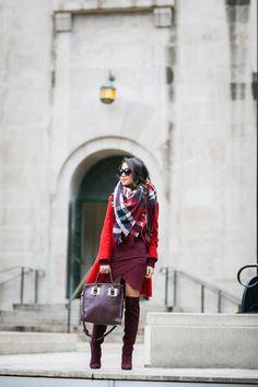 Coat :: Zara Dress :: ASOS Boots :: Joie Bag :: Sophie Hulme Accessories :: Zara scarf, Karen Walker Sunglasses, Wanderlust + Co ring