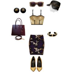 #PurpleReign by atlienfashioned on Polyvore featuring polyvore, fashion, style, Jonathan Simkhai, Kenzo, Yves Saint Laurent, Prada, Chanel and Christian Roth