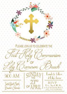Primera comunión invitación invitación de bautizo primera