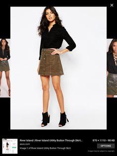 A Line Khaki Skirt