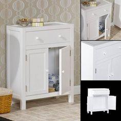 WHITE RESERVE DELUXE BATHROOM STORAGE CABINET