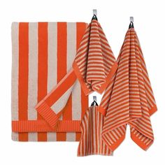 Marimekko Nimikko Orange/Beige Bath Towels - Click to enlarge