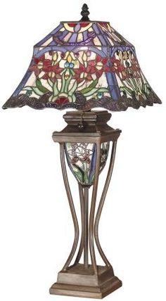 Find best value and selection for your Dale Tiffany Bronze Victorian 2 Light  Prickett Tiffany Table Lamp with search