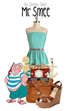 """""""Mr. Smee"""" by disney-teen ❤ liked on Polyvore featuring Black Rivet, Schutz, La Mer, Susan Shaw, women's clothing, women, female, woman, misses and juniors"""