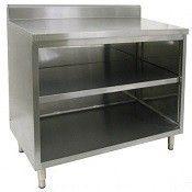 """16"""" X 60"""" Stainless Steel Cabinet - Open Front - w/ Backsplash"""
