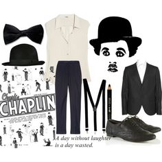 Charlie Chaplin Costume, created by celticbutterfly on Polyvore