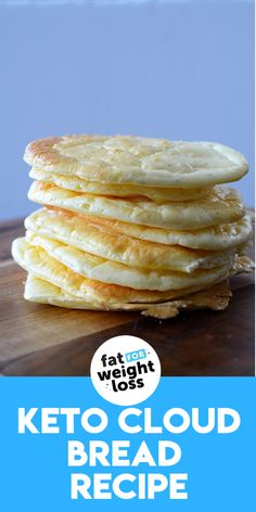 """Cloud bread is a great substitute for bread on the ketogenic diet. The term """"cloud"""" comes from the fact that its quite light and fluffy tasting, which comes from the egg whites being mixed and folded into the rest of the recipe. #ketobread #ketorecipes Sugar Free Desserts, Sugar Free Recipes, Low Carb Recipes, Easy Recipes, Ketogenic Recipes, Ketogenic Diet, Low Carb Burger Buns, Bread Substitute, High Fat Foods"""