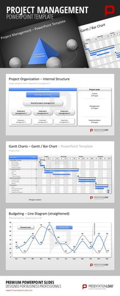 Project Management PowerPoint Templates for the planning, defining, managing and controlling of projects.  #presentationload  www.presentationl...