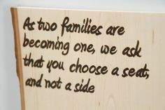 Custom Woodburn Signs from Wedding Signs to Home Decor on Etsy, $30.00