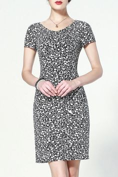 Round Print Elegant Dress