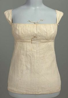 Stays Corset possibly French, worn in America, early 19th century Worn by Mehetable Stoddard Sumner (Welles), American, 1784–1826 PLACE OF M...