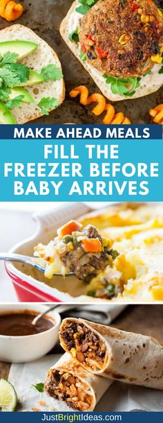25 Easy Make Ahead Freezer Meals for New Moms As a new mom you won't have the time (or the energy) to cook from scratch so here are 10 make ahead meals to freeze before baby arrives. Including meals you can eat one handed! Healthy Meals To Freeze, Meals That Freeze Well, Make Ahead Freezer Meals, Easy Meals, Healthy Recipes, Easy Recipes, Freezer Cooking, Cheap Meals, Healthy Nutrition