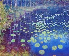 The Pond, Myrdammen - NORWAY Oil on linen, 80 x 100 cm Shops, Monet, Impressionist, Norway, Oil, Artwork, Painting, Inspiration, Biblical Inspiration