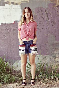 Southwestern shorts - dear emma, i will never get over how beautiful you are...