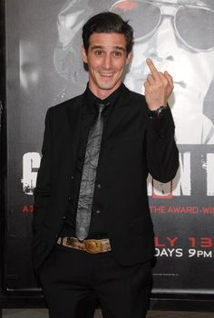James Ransone at the Miniseries 'Generation Kill' Los Angeles Premiere of the HBO Films' Paramount Theatre, Los Angeles, CA, USA July 2008 Sara De Boer / Retna Ltd. It Movie Cast, It Cast, Guys My Age, Paramount Theater, Comedy Duos, Funny Horror, Mom Jokes, Band Of Brothers, Poses