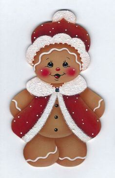 Dressed for Santa Gingerbread Painting di GingerbreadCutiesDiscover thousands of images about Watermelon Slice Gingerbread Painting por GingerbreadCutiesChristmas Cupcakes Snowman and Gingerbread por GingerbreadCutiesThis is a painting pattern that I Gingerbread Ornaments, Christmas Gingerbread, Felt Ornaments, Christmas Ornaments, Christmas Cupcakes, Christmas Snowman, Merry Christmas, Christmas Projects, Felt Crafts
