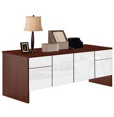 Alexis Raised Storage Credenza with 2 drawers, 2 doors