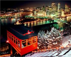 Pittsburgh at night from the Duquesne Incline