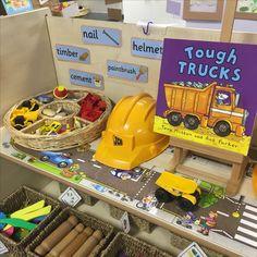 EYFS dough area - builders yard Year 1 Classroom, Early Years Classroom, Eyfs Classroom, Classroom Ideas, Eyfs Activities, Nursery Activities, Book Area Eyfs, Construction Area Eyfs, Creative Area Eyfs