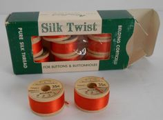 "11 Spools Vintage Belding Corticelli  "" Carrot ""  Silk Twist Buttonhole Thread sld 17.5+3 6/12/17 Wooden Spools, Silk Thread, Buttonholes, Carrots, Pure Products, Sewing, Rose, Vintage, Dressmaking"