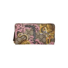 Gucci Multicolor Bengal Zip Wallet (3.810 DKK) ❤ liked on Polyvore featuring bags, wallets, zip wallet, colorful wallets, hardware bag, zip bag and zip close bags