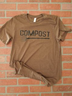 Compost Distressed Black Graphic T by RusticSunflowerApprl on Etsy