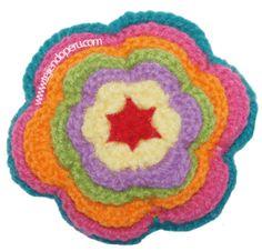tutorial: flor a colores tejida a crochet inspirada en el tejido de artesanos de Ayacucho, Perú