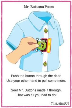 Buttoning and zipping can be a very difficult task for children. Learn simple ways to adapt buttoning and zipping so your child can be independent. Occupational Therapy Activities, Physical Education Games, Montessori Activities, Motor Activities, Activities For Kids, Health Education, Physical Activities, Early Education, Self Help Skills