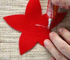 Aprenda a fazer uma linda flor de natal em Feltro para decorar sua loja ou sua casa