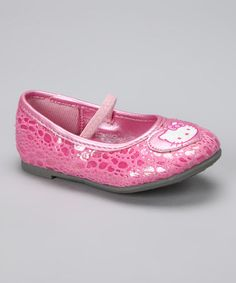 Take a look at this Pink Hello Kitty Kimmy Flat by Hello Kitty on #zulily today!
