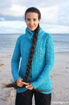 Very Long Hair, Sweaters For Women, Hair Beauty, Beautiful Women, Long Hair Styles, Crochet, Fashion, Long Long Hair, Moda