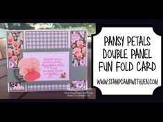 Fun Fold Cards, Pansies, Happy, Stampin Up, The Creator, Ser Feliz, Stamping Up, Violets, Being Happy