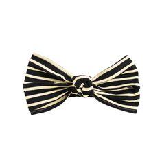 CHIARA Navy/ivory striped knit turban headband | Eugenia Kim
