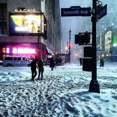 Blizzard of 2016. 34th Street & Seventh Avenue.  #fashionavenue #urbanstreet #34thstreet #nycblizzard #macys #jonas #midtownmanhattan #blizzard #midtownwest #snowzilla #midtown #blizzard2016 #citystreets #snowmaggedon #nycwinter #streetscape #urbanlife #urbanliving #snowpocalypse #snowporn #snowedin #ilovenyc #manhattan #nycstreets by cookxnyc