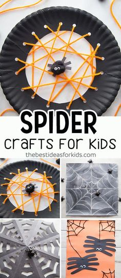 Crafts Spider Crafts for Kids - fun and easy Halloween Crafts for Kids, Toddlers and Preschoolers.Spider Crafts for Kids - fun and easy Halloween Crafts for Kids, Toddlers and Preschoolers. Manualidades Halloween, Halloween Tags, Fall Crafts For Kids, Halloween Crafts For Kids, Halloween Crafts Kindergarten, Halloween Activities For Toddlers, Crafts For Children, Fall Crafts For Preschoolers, Haloween Craft