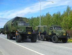 KRAZ (ukrainian truck) and ZIL (russian truck)