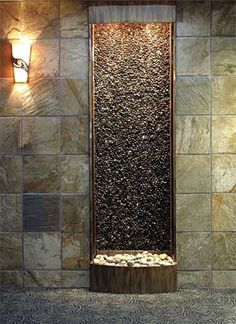 Building the custom indoor fountain of your dreams is simple when you work with the expert team at Water Feature Supply. Wall mounted and free standing custom water walls. water fountains with plants Indoor Wall Fountains, Indoor Fountain, Garden Fountains, Water Fountains, Fountain Ideas, Fountain Design, Indoor Water Features, Waterfall Fountain, Wall Waterfall