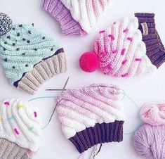 ideas for crochet kids sweater pattern yarns Crochet Baby Beanie, Baby Hats Knitting, Crochet Baby Clothes, Knitting For Kids, Knitting For Beginners, Baby Knitting Patterns, Crochet For Kids, Loom Knitting, Knitting Stitches