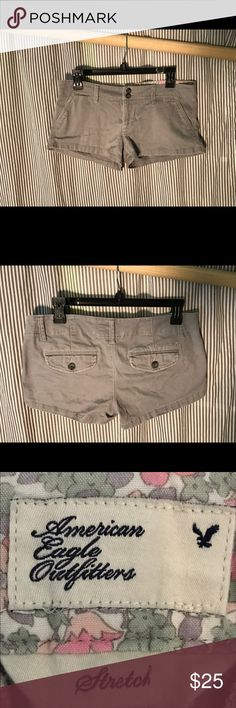 American Eagle Grey Shorts Grey shorts, great condition. Willing to negotiate price. American Eagle Outfitters Shorts