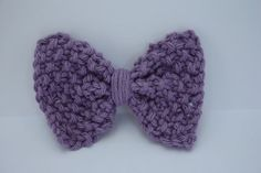 Lavender Hair Bow on Headband or Clip by IvyandOrchid on Etsy