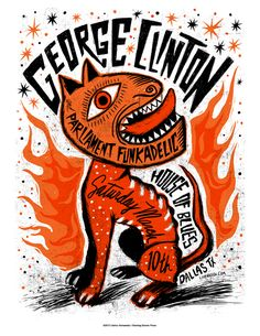Items similar to George Clinton and Parliament Funkadelic Screenprinted Poster - LAST FEW on Etsy Festival Posters, Concert Posters, Gig Poster, Art Festival, Rock Posters, Band Posters, Music Posters, Retro Posters, Banners