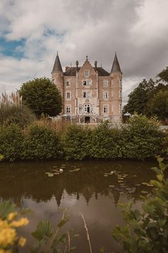 Escape To The Chateau de la Motte Husson wedding venue with Off the Shoulder Emanuela Grace Loves Lace Wedding Dress and children at the wedding Vacation Places, Vacation Trips, Angel Adoree, Angel Strawbridge, French Chateau, The Chateau, Dream Mansion, Castle House, Grand Homes