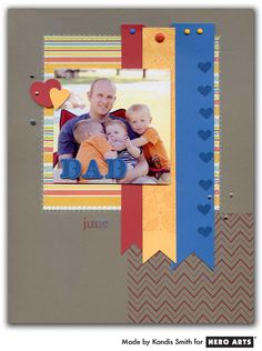 simple colorful layout...good way to use up those long strips of scraps