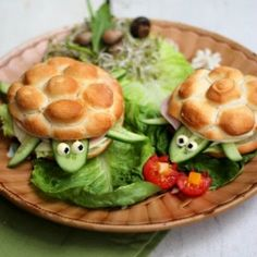 Turtle sandwich - perfect for kids!
