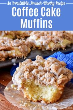 Treat yourself to these amazing Coffee Cake Muffins! This easy Coffee Cake Muffin recipe features a moist, tender sour cream base topped with a yummy Cinnamon Crumb Topping that's so much better than streusel! Serve these New York Style Coffee Cake Muffins as a tasty morning treat for breakfast or brunch. These Crumb Cake Muffins are great for a crowd, too! | Hello Little Home #muffins #coffeecake #brunch #brunchrecipe #coffeecakemuffins #breakfast #breakfastrecipe #muffinrecipe