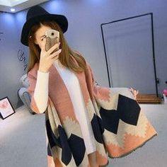 Fashion Long Women Scarves Winter Stole Pashmina Wool Cashmere Scarf Designer Tippet Geometric Super Warm Blanket Scarf Shawl 50