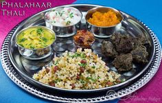 : Phalahaar fasting thali three