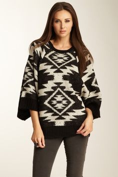 Bought this {Navajo Poncho Sweater} Dex in the short north! Love!!!