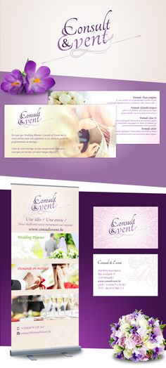 Consult & Event - Création logo, flyer, carte de visite et roll-up Up, Movies, Movie Posters, Logo Creation, Carte De Visite, Projects, Films, Film Poster, Cinema